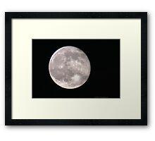 One Big Moon Framed Print