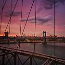 Beautiful New York City Sunset by Vivienne Gucwa