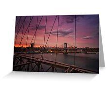 Beautiful New York City Sunset Greeting Card