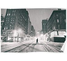 Snowstorm - New York City Poster