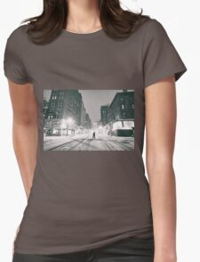Snowstorm - New York City Womens Fitted T-Shirt