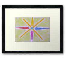 Multi Coloured Golden Star Framed Print