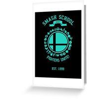Smash School United (Cyan) Greeting Card