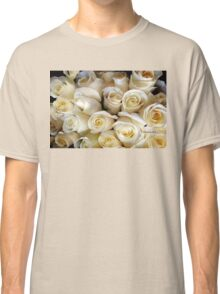 Candle Light Bouquet ~ White Roses Classic T-Shirt