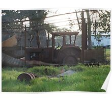 Rusty tractor Poster