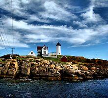 Nubble Island Light by Carrie Blackwood