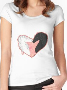 Swan and the Shadow Women's Fitted Scoop T-Shirt