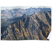 San Juan Mountains From The Air Poster