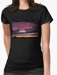 Natures Glorious Sunrise this morning!  'Arilka', Mount Pleasant. Womens Fitted T-Shirt