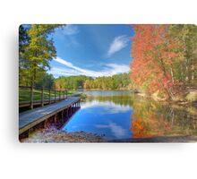 Fall Reflection on Mirror Lake Metal Print