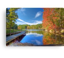 Fall Reflection on Mirror Lake Canvas Print