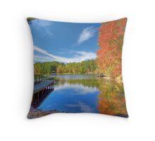 Fall Reflection on Mirror Lake Throw Pillow