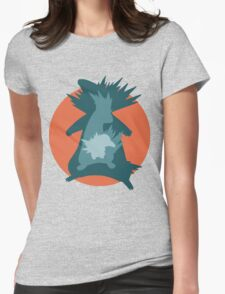Cyndaquil - Quilava - Typhlosion Womens Fitted T-Shirt