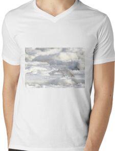 Arctic Fox #2, on the Tundra, Hudson Bay, Canada  Mens V-Neck T-Shirt