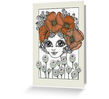 Charming Poppy Greeting Card