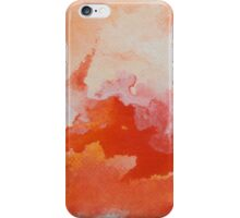 Watercolor Texture Fire and Water iPhone Case/Skin