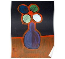 Flower in a vase (Abstract acrylic) Poster