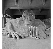 The Fremont Troll & his dinner  Photographic Print