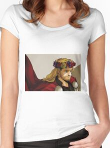 Crown for a god Women's Fitted Scoop T-Shirt