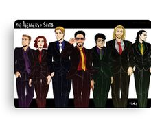 Avengers In Suits Canvas Print