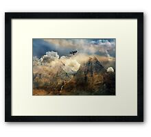 Cry for all that is wonder. Framed Print