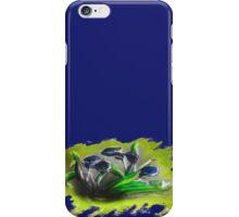 Acrylic Deep Blue Tulips  iPhone Case/Skin