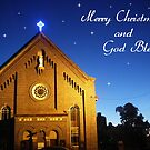 Merry Christmas and God Bless by Bernie Stronner
