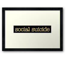 Mean Girls - Social Suicide Framed Print