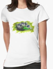 Acrylic Deep Blue Tulips  Womens Fitted T-Shirt