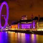 The London Eye &amp; Aquarium at Night by Bryan Freeman