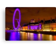 The London Eye & Aquarium at Night Canvas Print