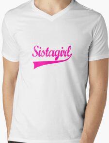 Sistagirl Pink [-0-] Mens V-Neck T-Shirt
