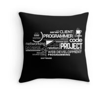 Programmer : Typography Programming - 2 Throw Pillow