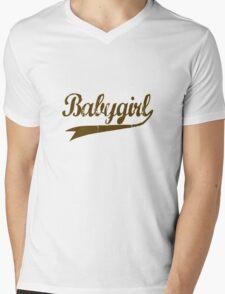 Babygirl [-0-] Mens V-Neck T-Shirt