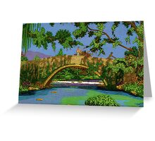 Stoned Bridge. Greeting Card