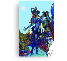"""Cyberian"" Android Goddess MIX 1 Canvas Print"