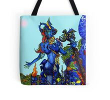 """""""Cyberian"""" Android Goddess MIX 1 Tote Bag"""