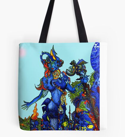 """Cyberian"" Android Goddess MIX 1 Tote Bag"