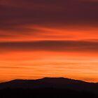 Sunset over Ljubljana suburb by Ian Middleton