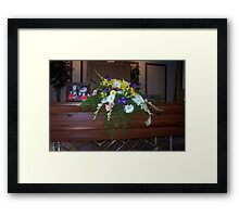 My Dad's Funeral Framed Print