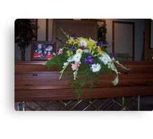 My Dad's Funeral Canvas Print