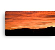 Sunset over suburb of Ljubljana Canvas Print
