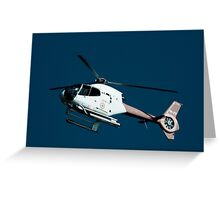 Helicopter ride Greeting Card