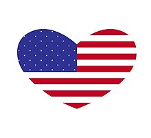 American Flag Heart by mborgali
