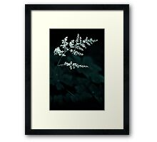 a brief moment Framed Print