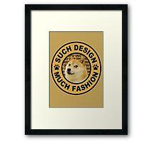 doge (such design much fashion) Framed Print