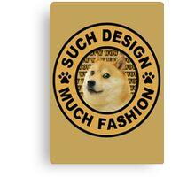 doge (such design much fashion) Canvas Print