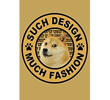 doge (such design much fashion) Photographic Print