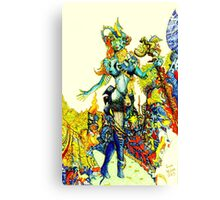 """Cyberian"" Android Goddess MIX 2 Canvas Print"