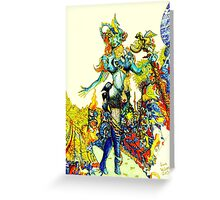 """""""Cyberian"""" Android Goddess MIX 2 Greeting Card"""